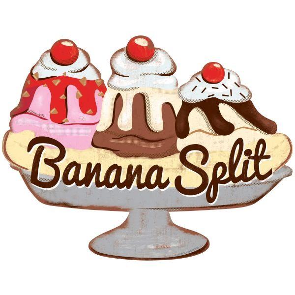 Banana Split Wall Decal.