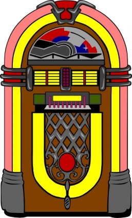 Fifties Jukebox clip art free vector.