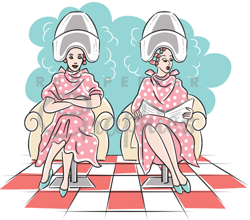 50s hairdryer ladies ciipart.