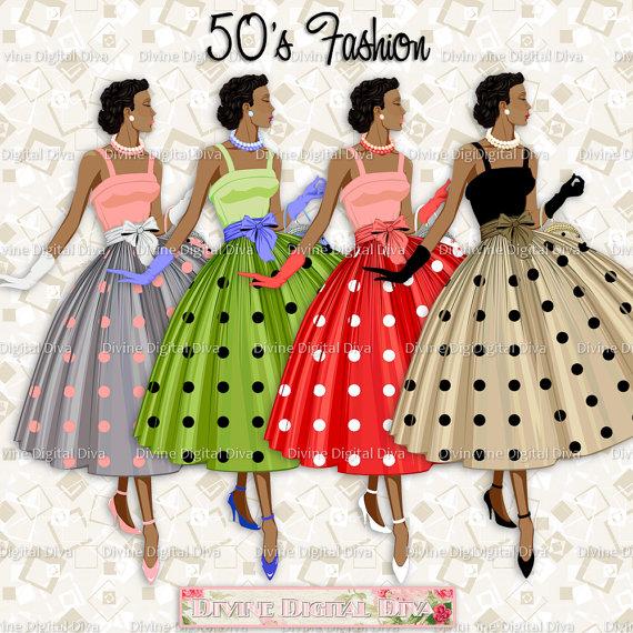 12 Ladies of Color 50s Fashion Polka Dot Dress.