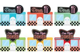 Image result for free 50\'s soda shop clipart.