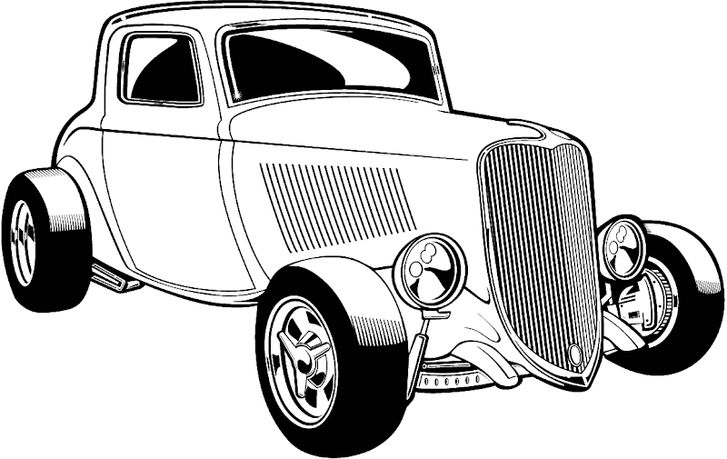 Hot Rod Silhouette at GetDrawings.com.