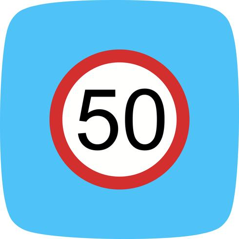 Vector Speed limit 50 Icon.