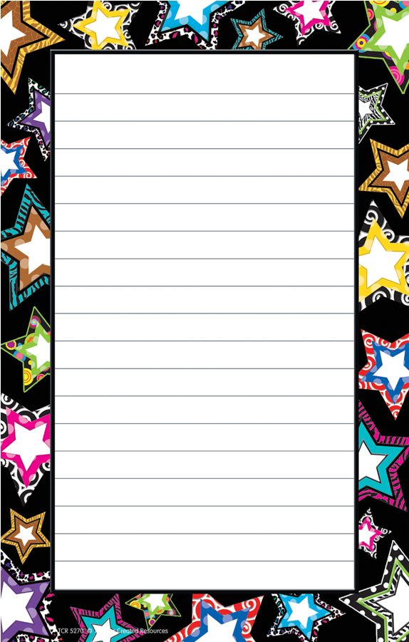 Tcr 5270 Stars 50 Sheet Notepad.