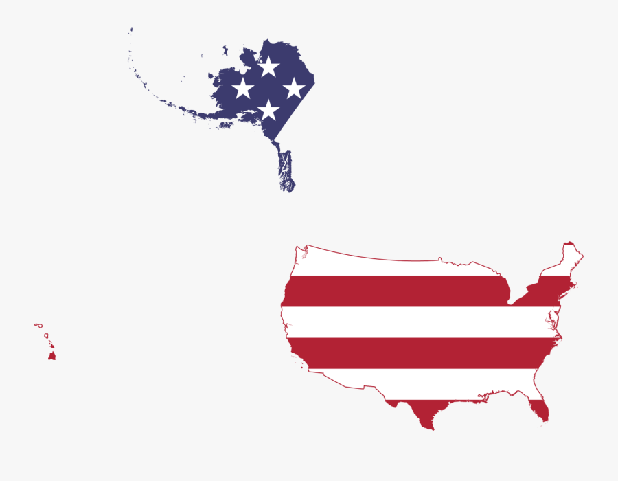 Flag Map Of United States 50 States , Free Transparent.