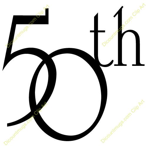 50th birthday clipart.