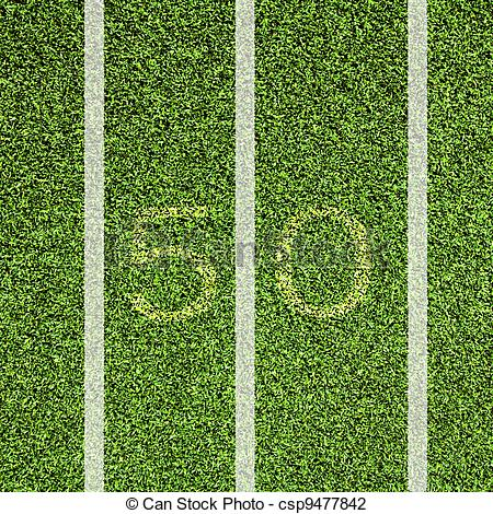 View top of 50 yard line.