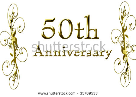 50th Wedding Anniversary Stock Images, Royalty.
