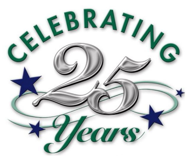 Celebrating 25 Years Clipart.