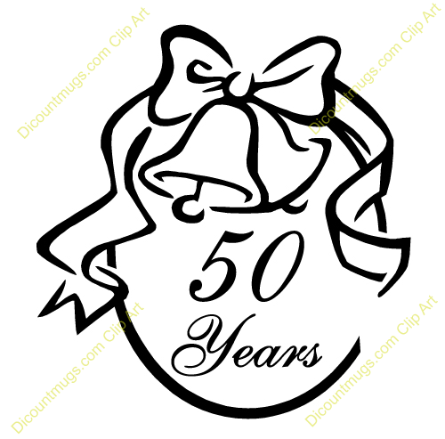 50 Year Celebration Service Clipart.