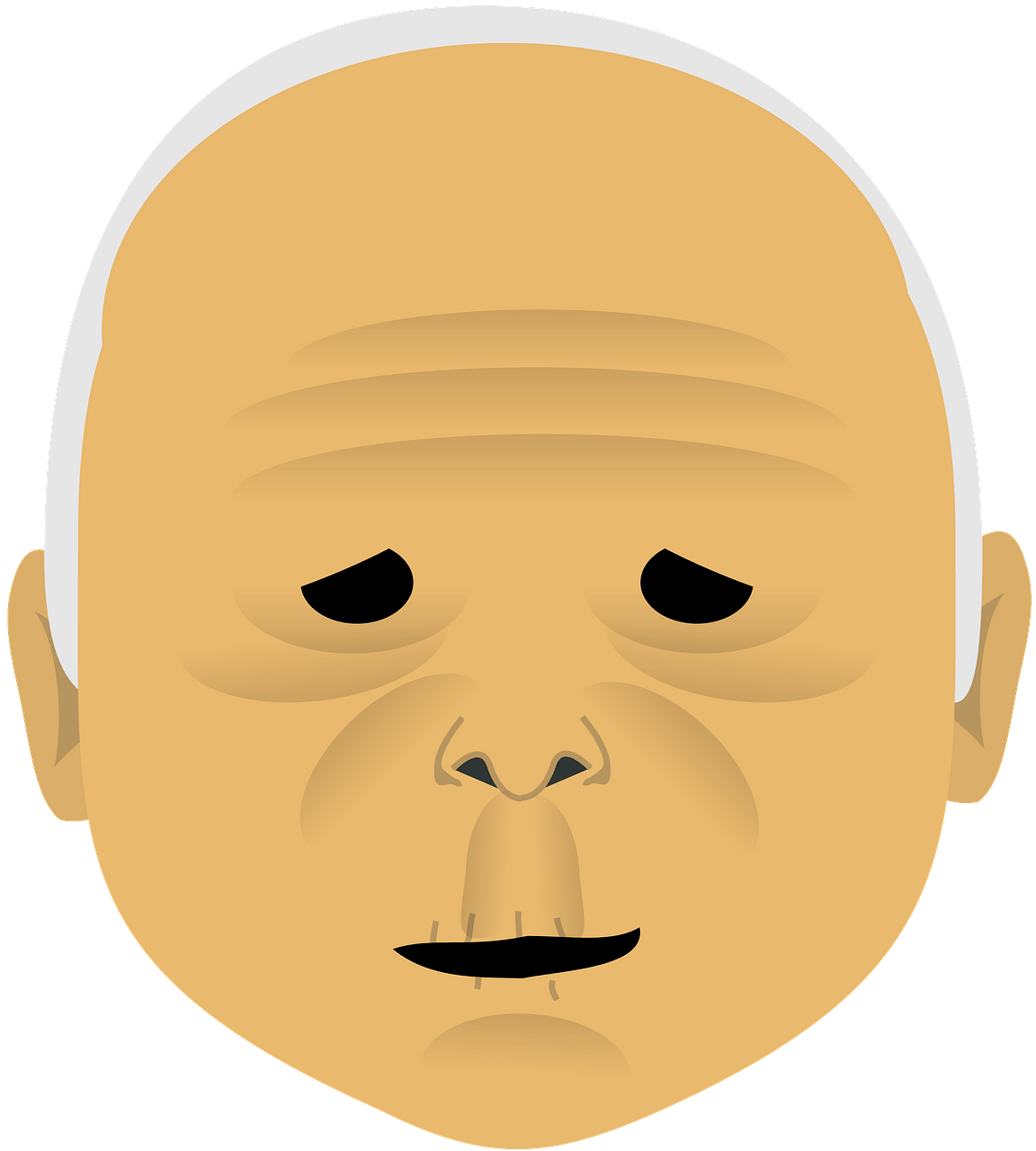 Old man face clipart. Free download..
