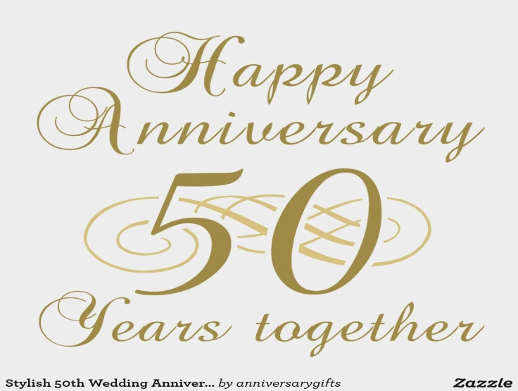 Happy 50th Wedding Anniversary Clipart.