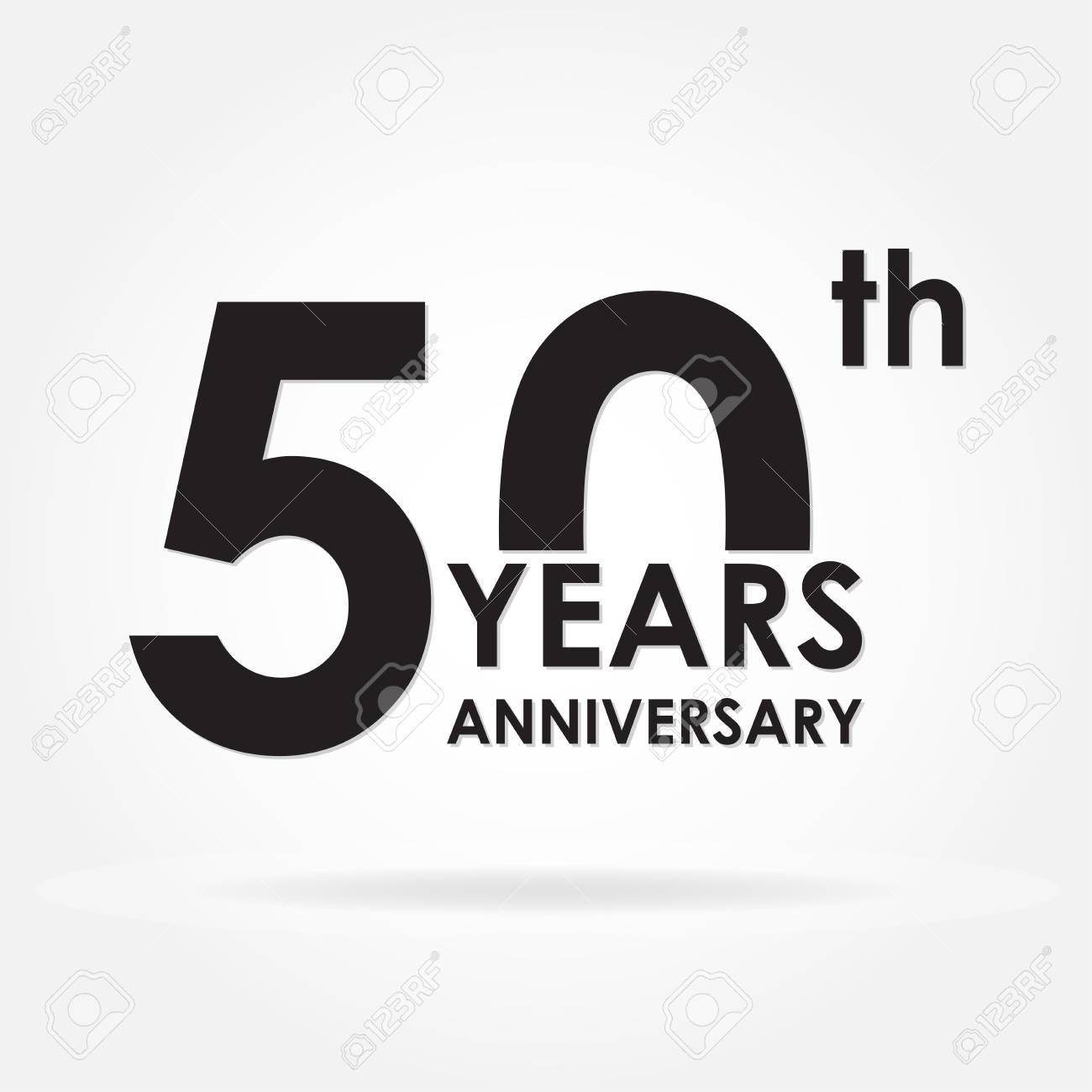 50 years anniversary sign or emblem. Template for celebration...