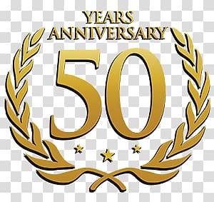 50 Years Anniversary logo poster, 50 Years Anniversary Laurel.