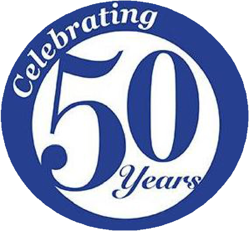 Celebrating 50 Years Clip Art free image.