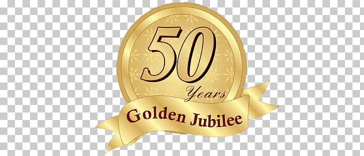 Golden Jubilee Badge, 50 years golden jubilee logo PNG.