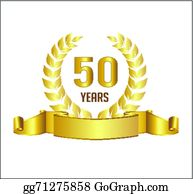 50 Years Clip Art.