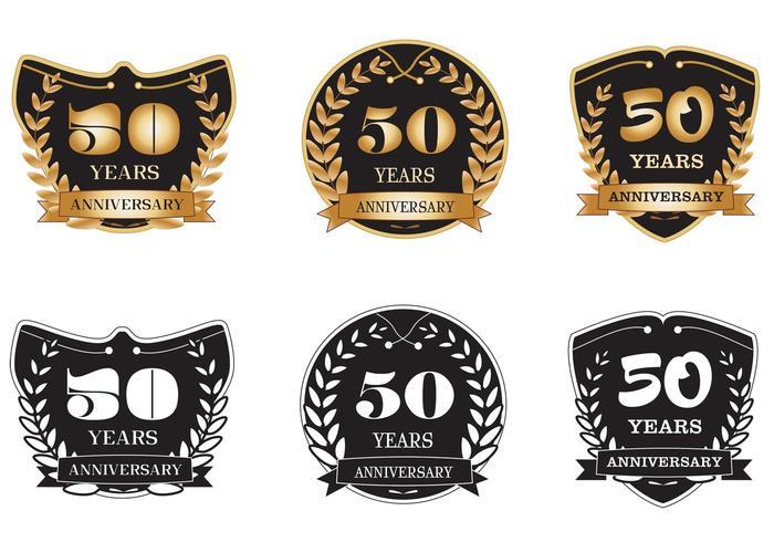 50 Years Anniversary Badges.