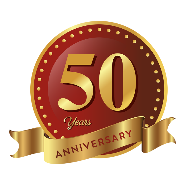 50th Anniversary Png, Vector, PSD, and Clipart With Transparent.