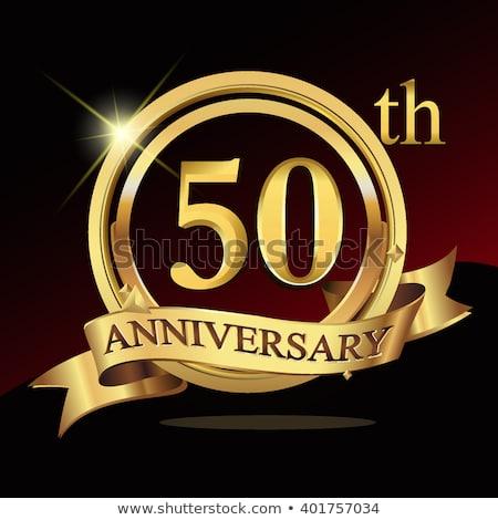 50th Wedding Anniversary Free Vector Art.