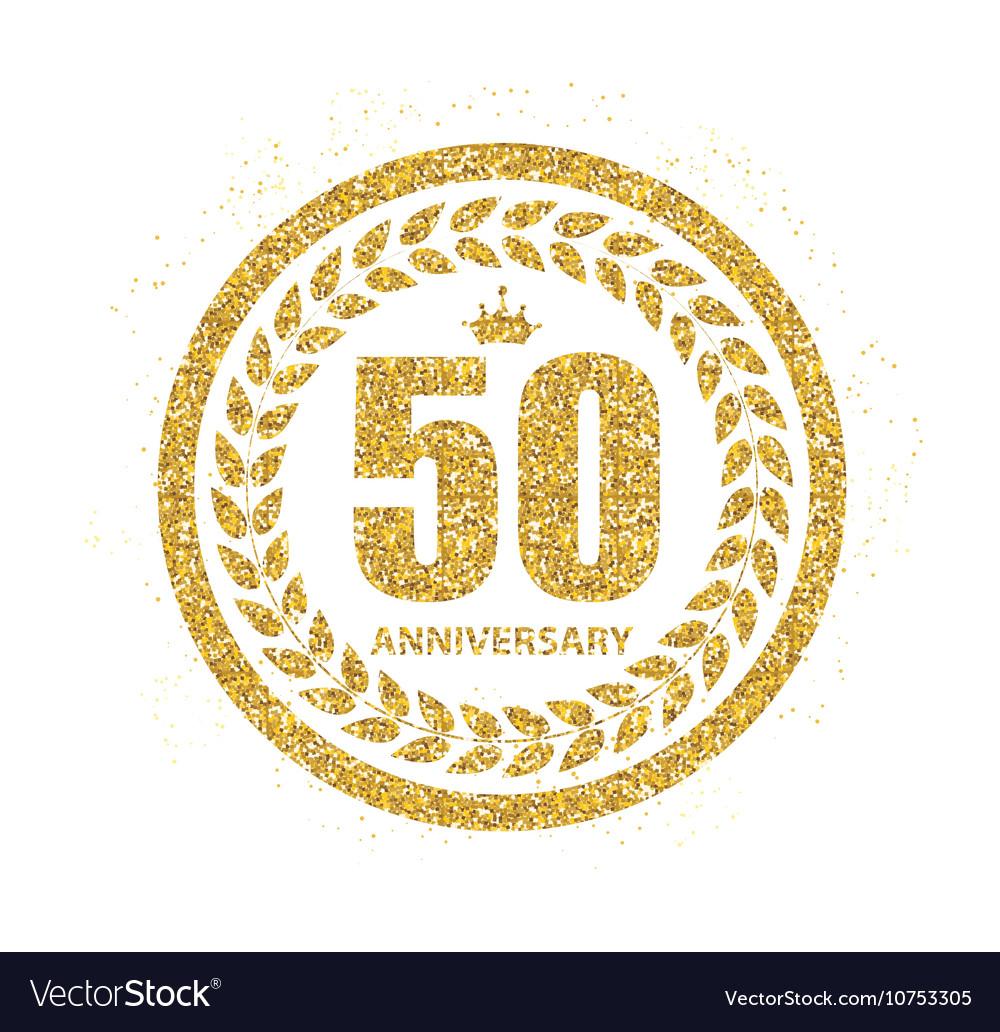 Template Logo 50 Years Anniversary.