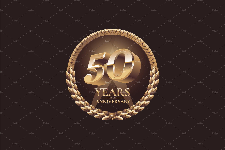 50 years anniversary vector logo.