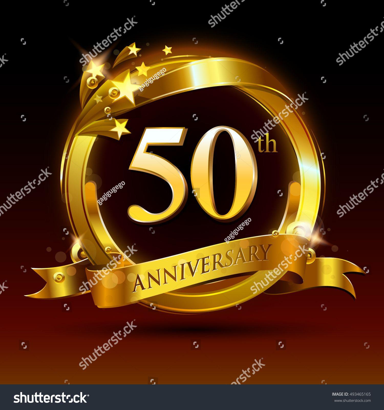 50th golden anniversary logo, 50 years anniversary.