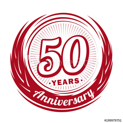 50 years anniversary. Anniversary logo design. 50 years logo.