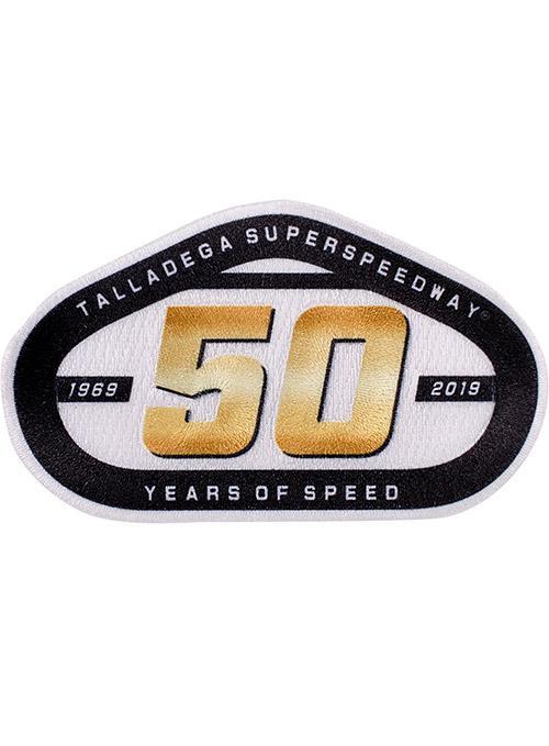 Talladega Superspeedway 50 Years of Speed Emblem.
