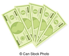 500 dollars Vector Clip Art Royalty Free. 35 500 dollars.