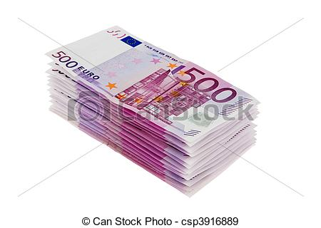 Stock Photographs of Stack of 500 euro notes csp3916889.