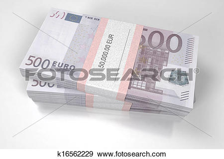 Stock Illustration of Packets of 500 Euro bills k16562229.