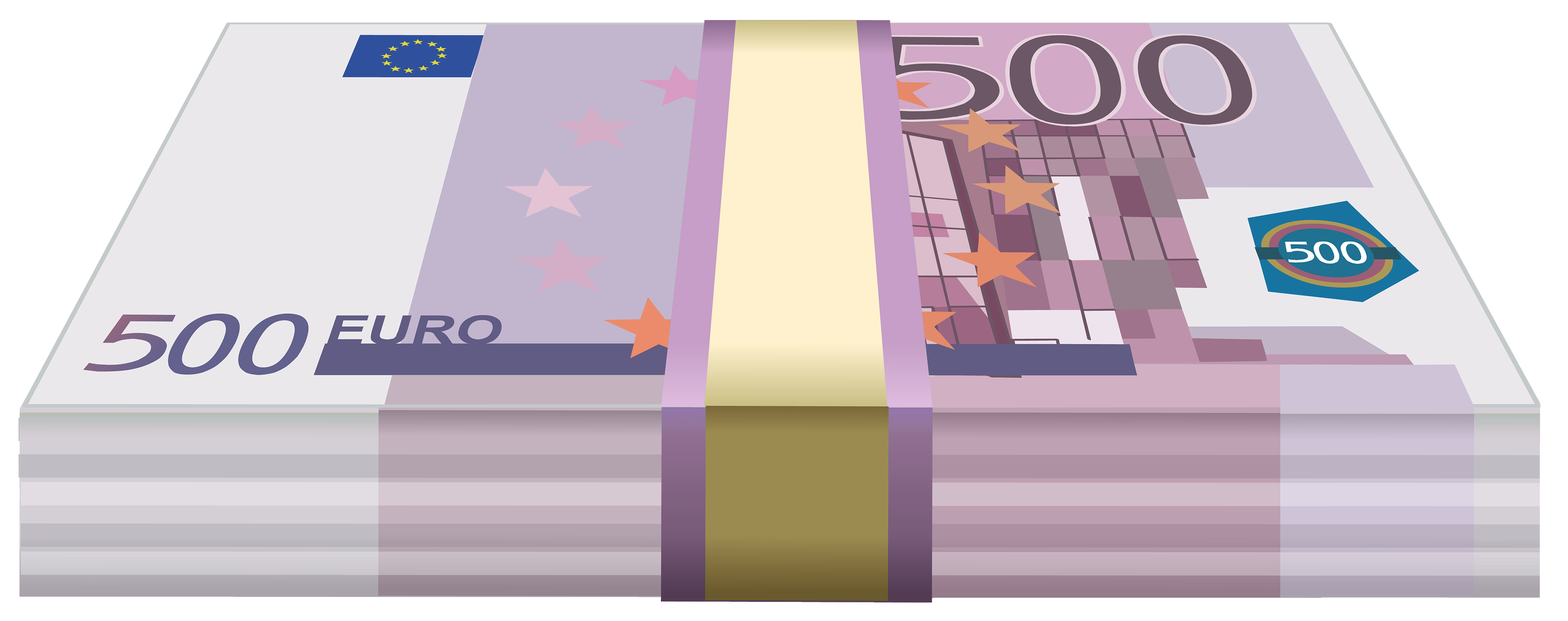 Wad of Euros PNG Clipart.