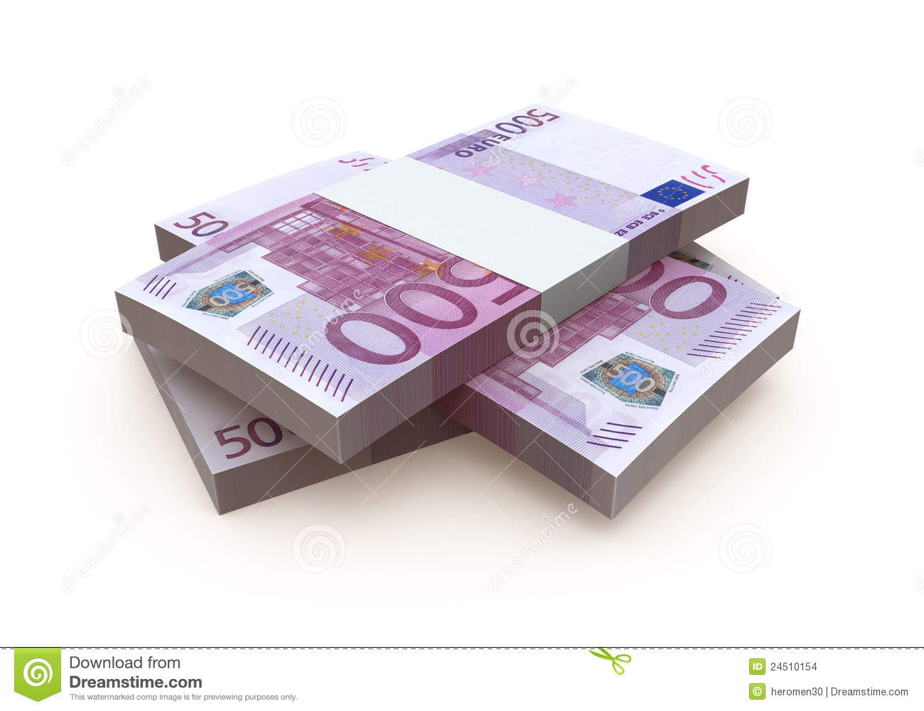Euro 500 banknote stock illustration. Illustration of symbol.