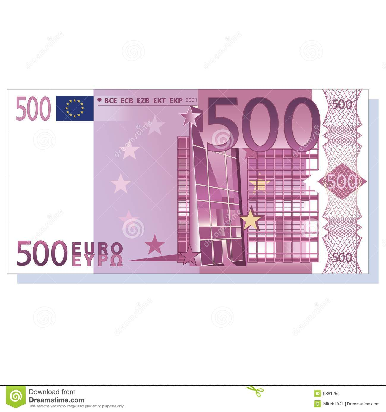 Euro Banknote Stock Photo.