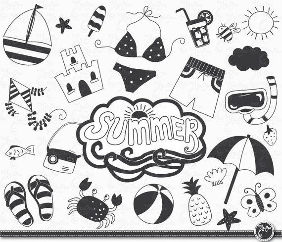 Hand draw summer \