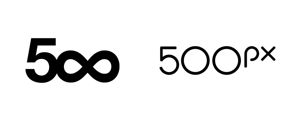 Brand New: New Logo for 500px by Focus Lab.