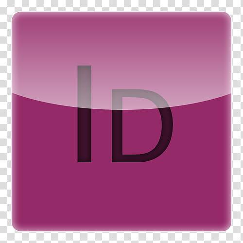 IPhone Adobe icons x, Id, pink ID logo transparent.