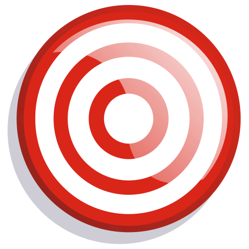 Red Target Board Free PNG.