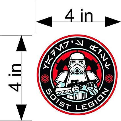 Star Wars 501st Legion car & Truck Vehicle Decals/Stickers.