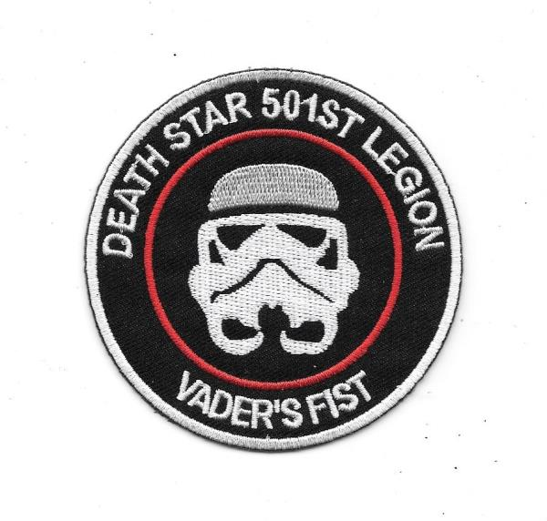 Details about Star Wars Death Star 501st Legion Vader\'s Fist Logo  Embroidered Patch NEW UNUSED.