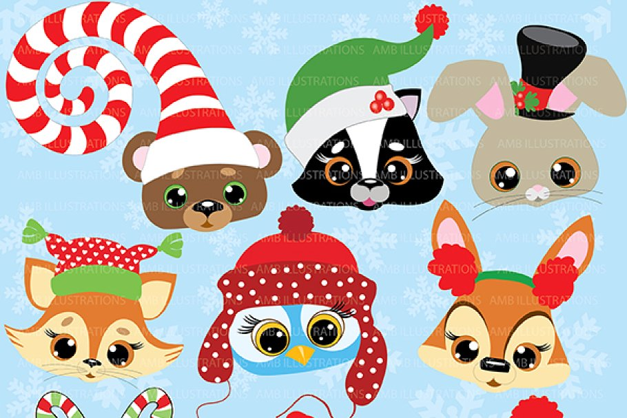 Christmas Critters Clipart AMB.