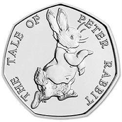 U.K 50p Coins.