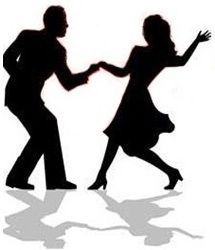 Silhouette Swing Dancing Couple By Dance Clipart.