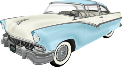 50s Car Front Clipart.