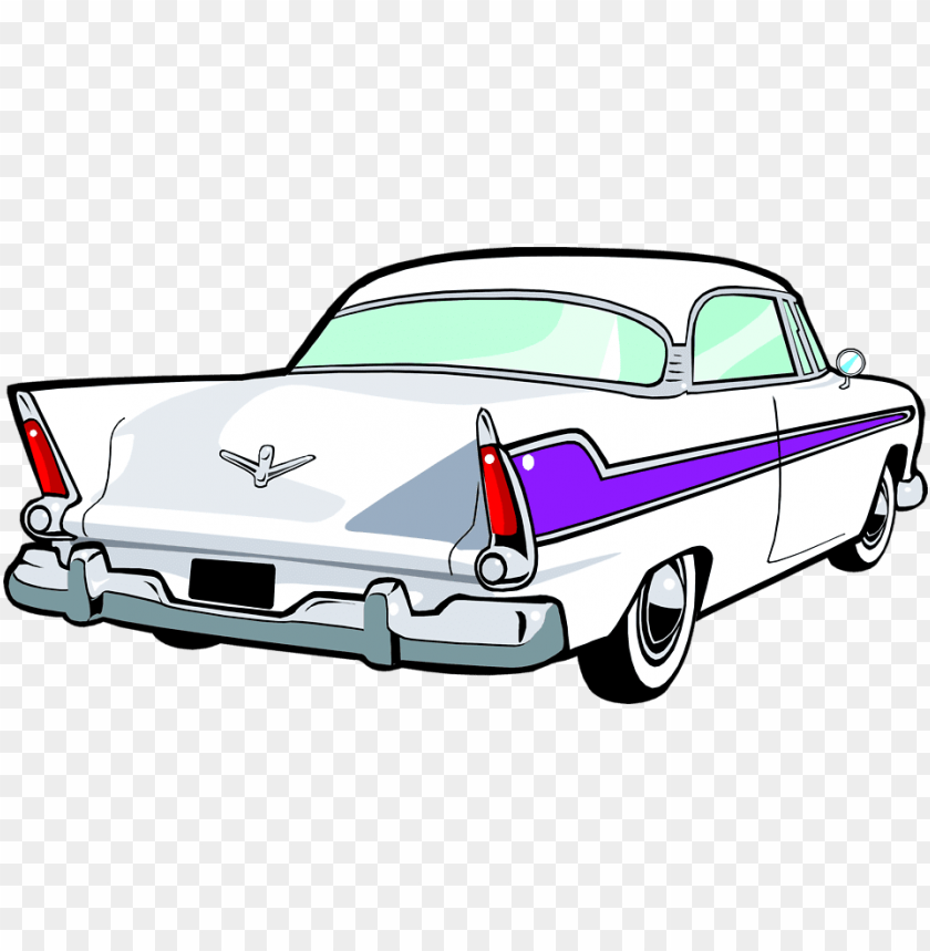 50s car wall clock PNG image with transparent background.