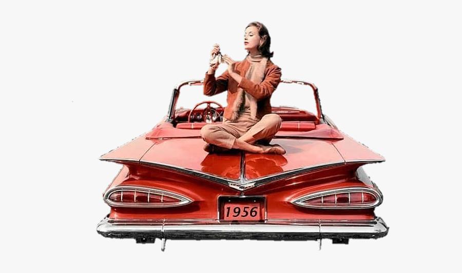 vintage #vintagecar #aesthetic #girl #woman #oldcar #50s.