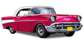 Classic 50s Car Clipart.