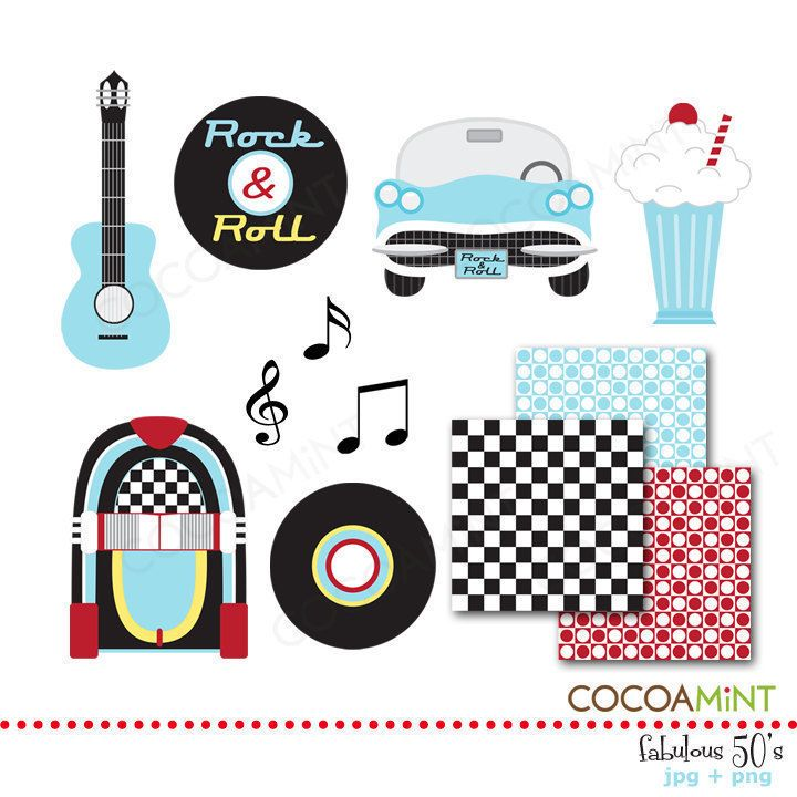 1950s Rock And Roll Clip Art Fabulous 50's clip art.