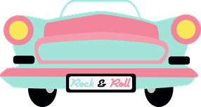ROCK & ROLL CAR CLIP ART.